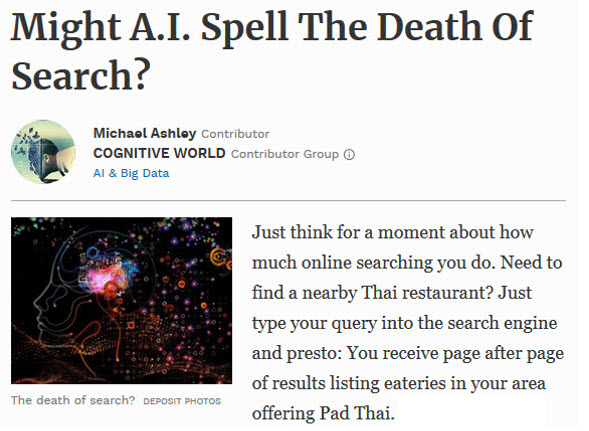 AI Impact On Search